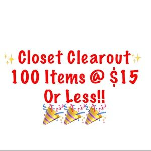 Accessories - $15 or less Closet Clearout!!
